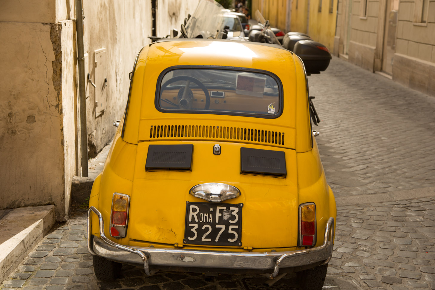 Rome is prima bereikbaar met de automobiel.