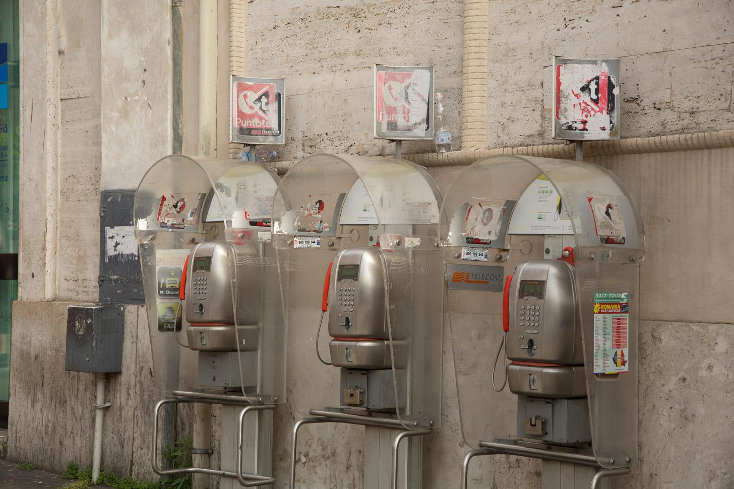 Telefoneren in Rome