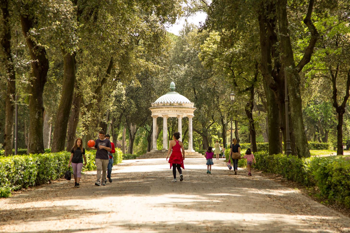 Tuinen van Villa Borghese