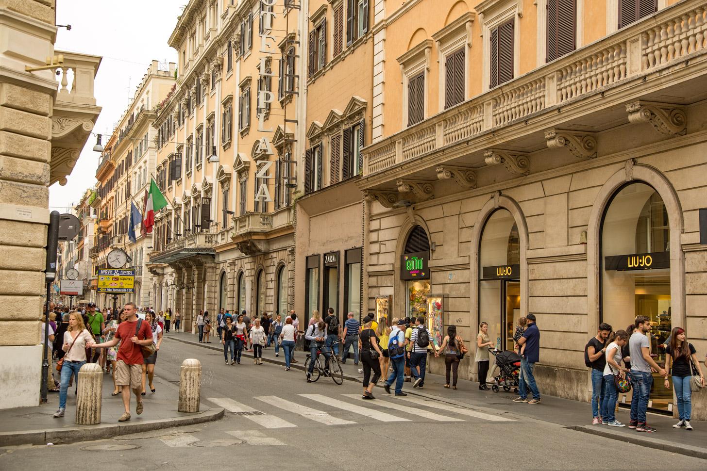 In Rome kun je uitstekend winkelen!